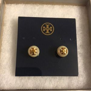 Tory Burch Gold and Pearl Earrings